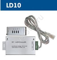 Контроллер DC  144W  LD10 12V для LED RGB IP20 тм Ферон